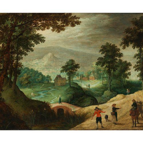 Peeter Gysels,1621 Antwerpen – 1690/91 ebenda, zugeschrieben WEITE BERGIGE LANDS…