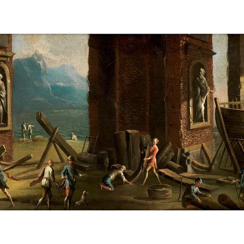 Ascanio Luciani, um 1621 Neapel – 1706, zugeschrieben DER BAU EINER BARKE Öl auf…