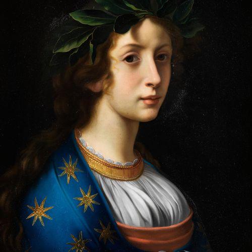 Italienischer Maler des 17./ 18. Jahrhunderts BILDNIS EINER JUNGEN DICHTERIN Öl …