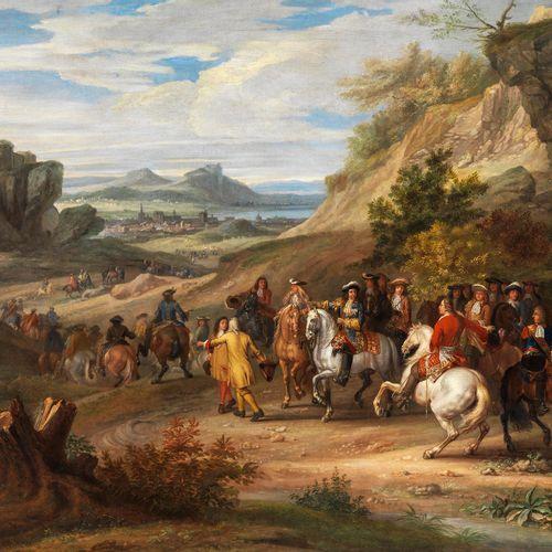 Jean Baptist Martin, 1659 Paris – 1735, zugeschrieben SIEG DES PRINZ CONDÉ BEI B…