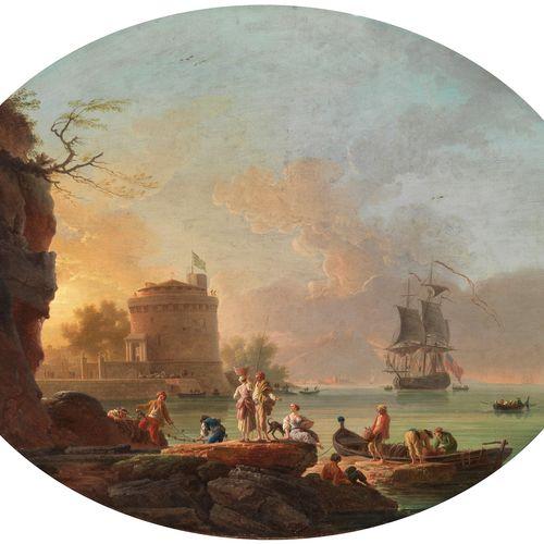 Claude Joseph Vernet, 1714 Avignon – 1789 Paris, und Werkstatt HAFENANSICHT MIT …