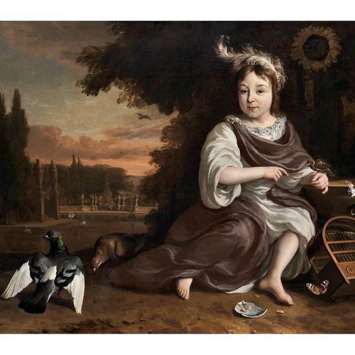 Jan Weenix,1640 Amsterdam – 1719 PORTRAITBILDNIS DES PRINZEN VON ORANIEN MIT VOG…