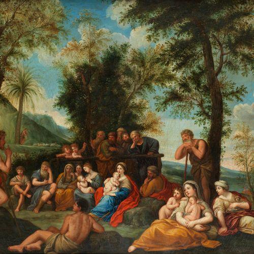 Francesco Albani, 1578 Bologna – 1660 ebenda, Kreis des DIE PREDIGT JOHANNES DES…
