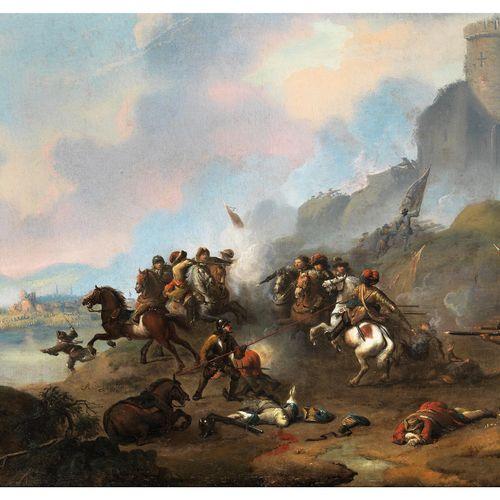 Alexander van Gaelen, 1670 – 1728 SCHLACHT ZUR EROBERUNG EINER BURG Öl auf Leinw…