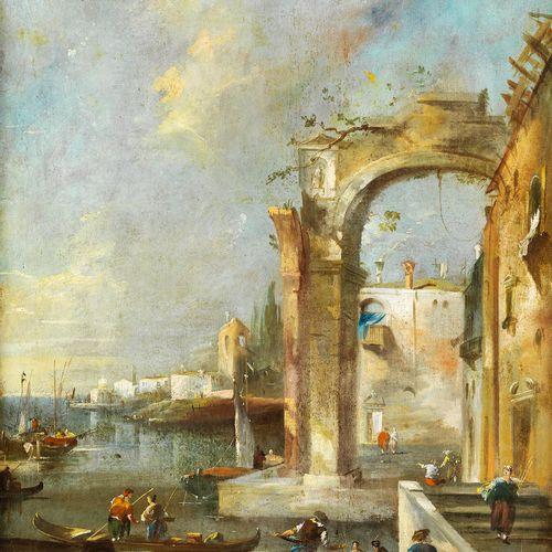 Giacomo Guardi,1764 – 1835, Umkreis ARCHITEKTUR CAPRICCIO Öl auf Leinwand. Doubl…