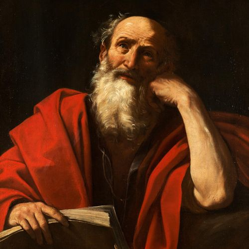 Guido Reni, 1575 Bologna – 1642 ebenda DER APOSTEL PAULUS Öl auf Leinwand. Doubl…