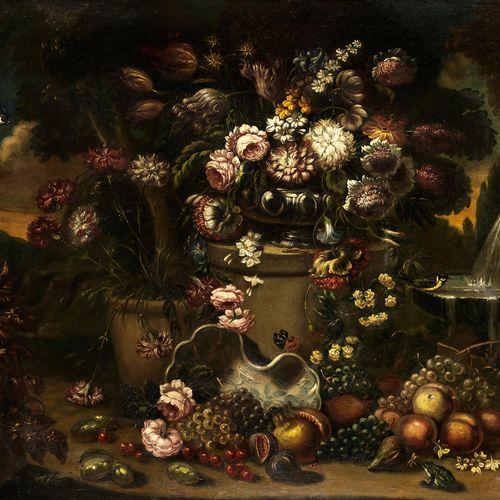 Gaspare Lopez, 1650 Neapel – 1732 Florenz, zugeschrieben BLUMEN UND FRÜCHTESTILL…