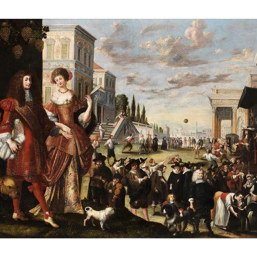 Stephan Kessler,1622 Donauwörth – 1700 Brixen GROSSES STADTFEST MIT REICHER FIGU…