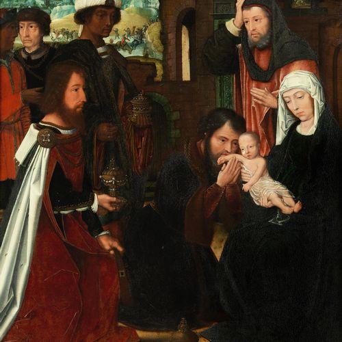 Ambrosius Benson, um 1495 Mailand – 1550 Brügge, zugeschrieben ANBETUNG DER KÖNI…