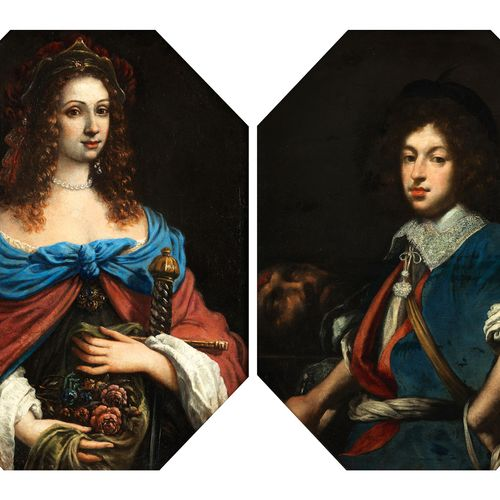 Maler des 17. Jahrhunderts Gemäldepaar PORTRAIT EINER DAMesowie PORTRAIT EINES H…