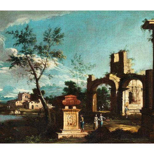 Pietro Antonio Domenichini,1699 – 1743 LANDSCHAFT MIT RUINENCAPRICCIO UND STAFFA…