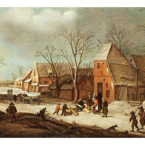 Hendrick van Avercamp,1585 Amsterdam – 1634 Kampen WINTERLICHE DORFLANDSCHAFT MI…