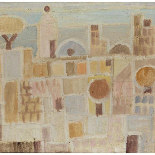 Eduard Bargheer, 1901 Hamburg – 1979 ebenda STADT IM VORFRÜHLING, 1974 Öl auf Le…