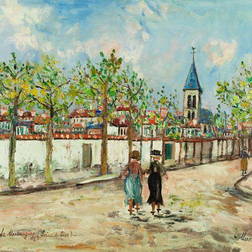 Maurice Utrillo, 1883 Paris – 1955 Dax AVENUE DES TILLEULS, L'ÉGLISE DE MONTMAGN…