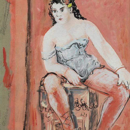Leonor Fini, 1907 Buenos Aires – 1996 Paris DIE TÄNZERIN Gouache. 60 x 43cm. Lin…