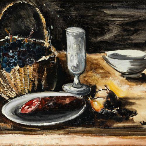Maurice de Vlaminck, 1876 Paris – 1958 Rueil la Gadelière NATURE MORTE AUX RAISI…