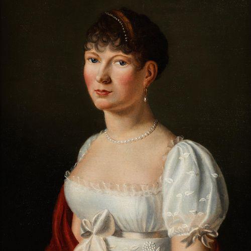 Henry François Riesener, 1767 Paris – 1828 BILDNIS EINER ELEGANTEN DAME Öl auf L…