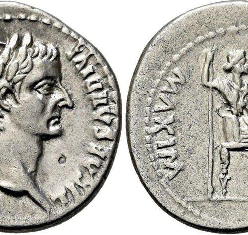 RÖMISCHE KAISERZEIT. Tiberius, 14 37 AD. Denarius ø 19mm (3.64g). 30 A.D. Mzst.L…