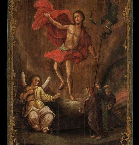 Ikonen Large Icon showing the Resurrection of Christ. Russian / Ukrainian, late …