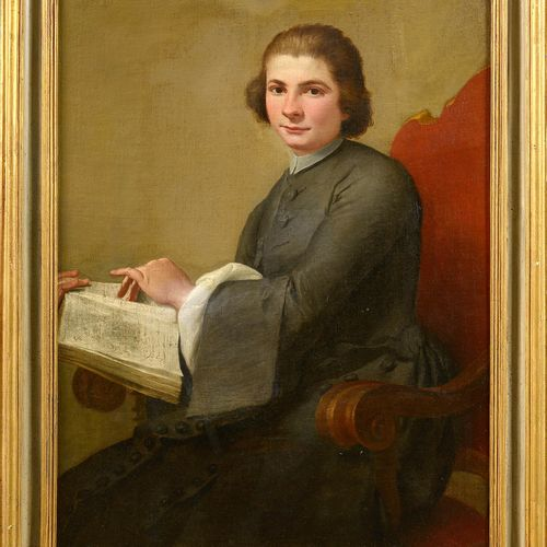 "TORELLI Stefano (1712 1784) Oil on canvas marouflaged ""Portrait of a clergyman"".…"