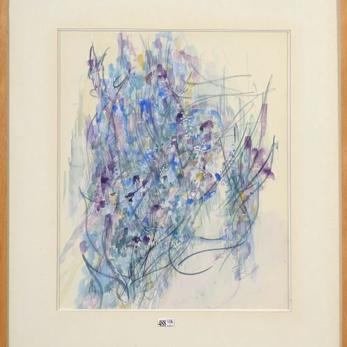 "MILO Jean (1906 1993) ""Abstraction"" watercolor on paper. Signed lower right Jean…"