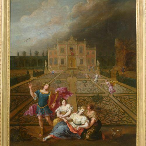 """TENIERS III David (1638 1685). Attribué à. Huile sur toile marouflée sur toile """"…"""