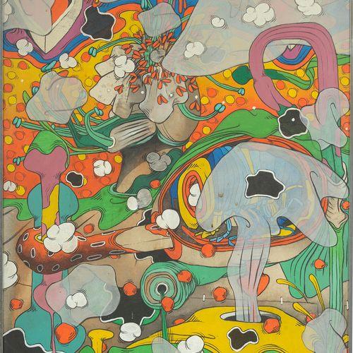 """CHEMAY Jacques (1938 1996) Acrylique sur toile """"Sans titre"""". Signé en haut à gau…"""