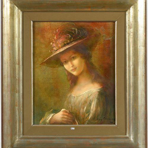 CAMBIER Guy (1923 2008) 布面油画《萨斯基娅的肖像》。签名右下:Guy Cambier。比利时的学校。背面有布鲁塞尔Simone van …