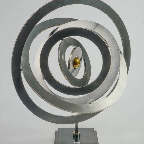 """STOLNIKOFF Anatoly (1955) """"Cosmos alternatif"""" en bronze à patine noire et dorée.…"""