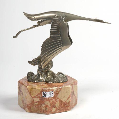 """Bazin François (1897 1956) """"Cigogne volante"""" mascotte automobile ou bouchon de r…"""