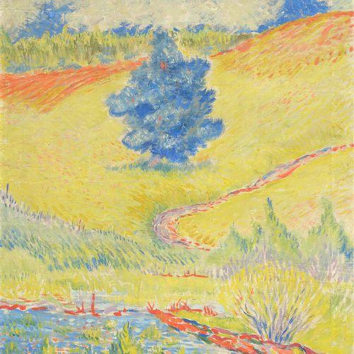"""BUTLER James P. (1893 1976) Huile sur toile """"Pine tree"""". Signé J. Butler en bas …"""