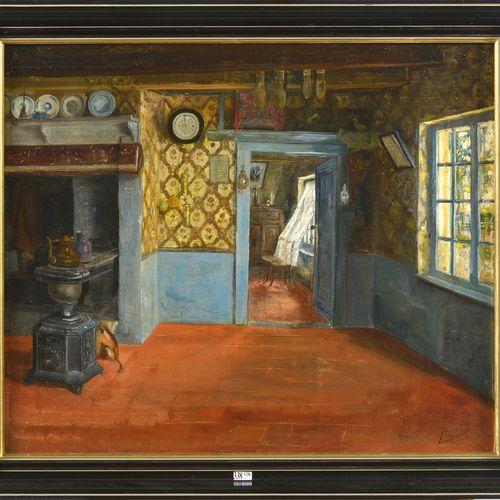 DE SAEDELEER Valérius (1867 1942) Huile sur toile marouflée sur panneau d'unalit…
