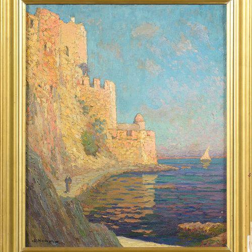 """HAMON Adrien (1875 1963) Huile sur toile """"Collioures"""". Signé en bas à gauche A. …"""