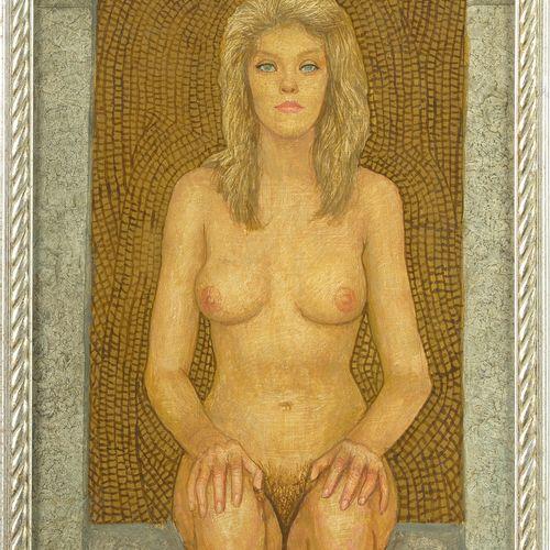 II CZENE Béla (1911 1999) 油画作品《女性裸体坐姿》。左下角有Béla Czene的签名和1987年的日期。匈牙利学校。在背面看到一些题…