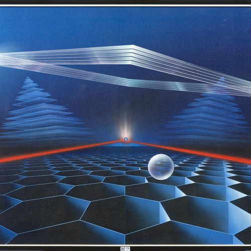 "BALENCOURT Alain (1947) 丙烯酸画布上的 ""宇宙空间 阿克拉""。签名左下:Alain Balencourt,日期(19)84。比利时的学校…"