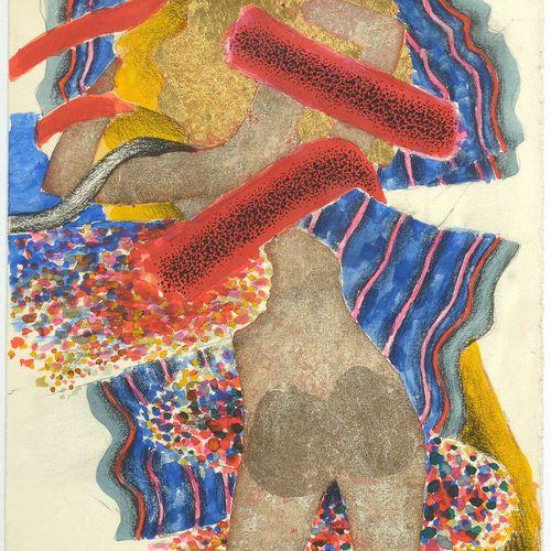 """COLLIGNON Georges (1923 2002) """"Nu féminin de dos"""" technique mixte sur papier don…"""