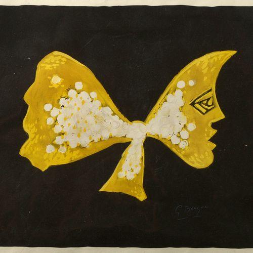 "BRAQUE Georges (1882 1963) ""Selene ""纸上彩色平版画。版面右下方有签名G.布拉克,编号为7/199。左下方印有 ""Editio…"