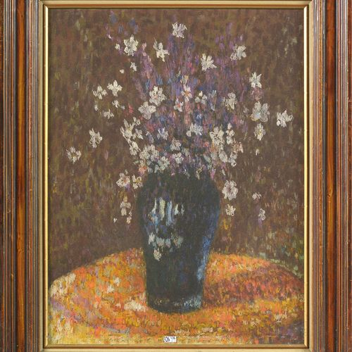 """MARTIN Henri (1860 1943) """"Nature morte au bouquet de fleurs d'amandier"""" pastel s…"""