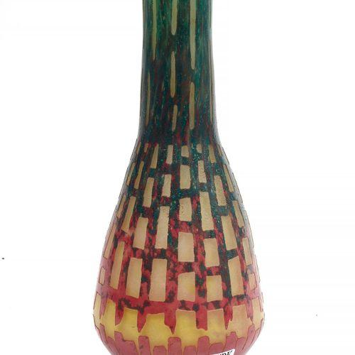 SCHNEIDER Charles (1881 1953) Vase soliflore Art déco en pâte de verre multicouc…