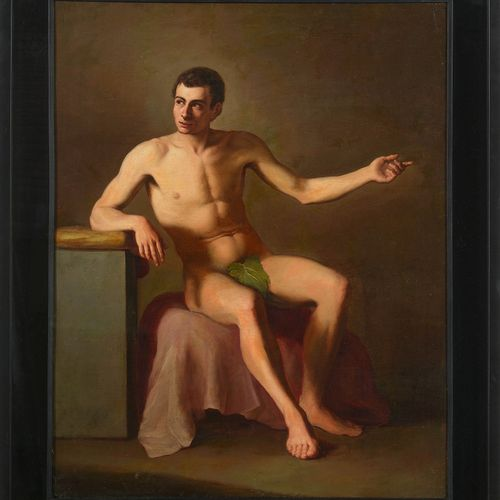 ESQUIVEL Antonio Maria (1806 1857). Attribué à. Huile sur toile marouflée sur to…