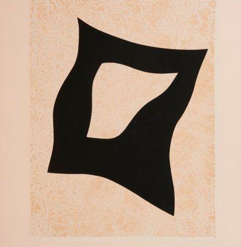 D'après Hans ARP  Composition circa 1960 1965.  Collage sur papier.  L'un est nu…