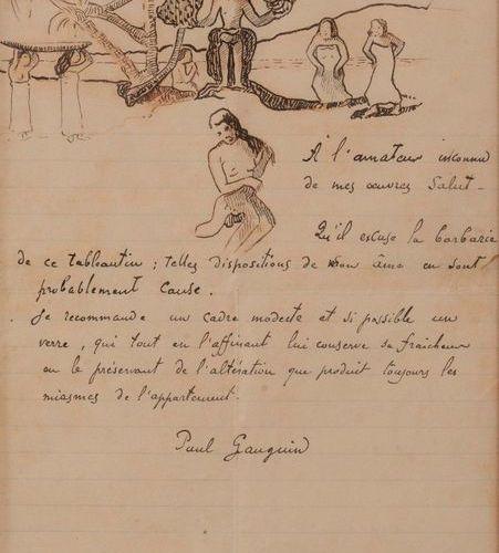 GAUGUIN Paul (1848 1903) Lettre autographe signée adressée à « l'amateur inconnu…
