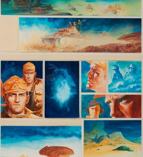 William Vance (1935 2018)  XHG C3, The Land of My Ancestors, 1995.  Watercolour …