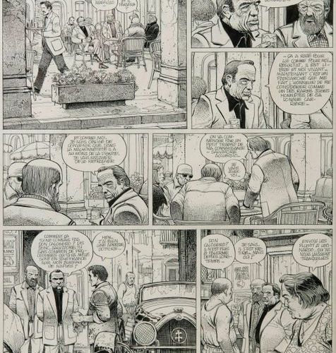Enki BILAL (1951)  The Phalanxes of the Black Order, 1979.  Pencil lead and ink …