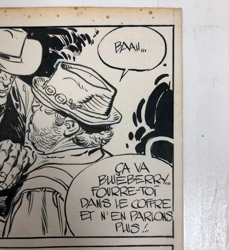 Jean Giraud (1938 2012) Blueberry, The Outlaw, 1974. Pencil lead, India ink and …