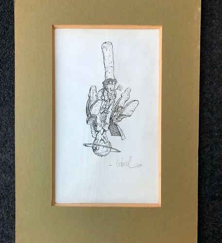 Regis LOISEL (1951)  Untitled.  Pencil lead and felt on paper.  Signed down righ…