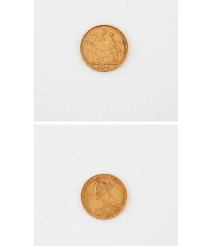 ENGLAND  Sovereign Gold, Victoria Jubilee, 1899.  Weight: 7.9 g.