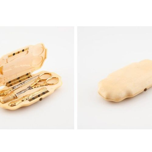 AUDOT, Paris, R. Nve Montmorrency Feydeau  Sewing kit with ivory (Elephantidae s…