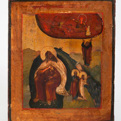 RUSSIE, XIXème siècle Story of the prophet Elijah (Ascension of Elijah, Elijah g…