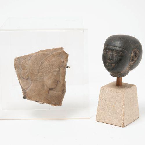 Dans le goût des productions égyptiennes antiques Female head with a ball headdr…